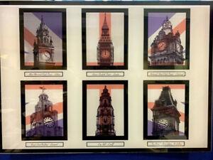 GREAT BRITISH CLOCK TOWER PHOTOGRAPHS IN PERSPEX MOUNT - UK CITY CLOCKS