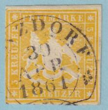 GERMAN STATES - WURTTEMBERG 15  USED - NO FAULTS  EXTRA FINE!