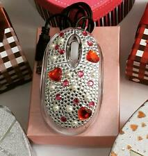 LUXURY CRYSTAL BLING DIAMANTE GIFT PRETTY ACRYLIC CUTE COOL USB COMPUTER MOUSE