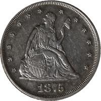 1875-P Twenty (20) Cent Piece Choice AU/BU Tough Date Nice Luster Nice Strike