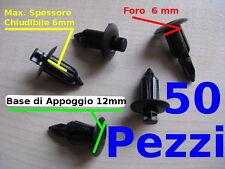 Rivetti plastica carene codoni moto scooter A SCATTO push pin foro 6mm PZ 50