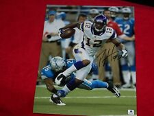 PERCY HARVIN SIGNED 11x14 MINNESOTA VIKINGS FOOTBALL PHOTO GLOBAL CERTIFIED