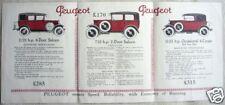 Peugeot Closed Cars 7.12hp 11.25hp Brochure c1927-28