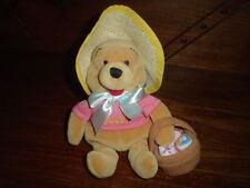 Winnie the Pooh Easter Bonnet Velvet Teddy Bear 9 inch