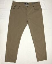 Brax Mens Cooper Fancy Regular Fit Pants 38 X 32 Brown Wool Blend