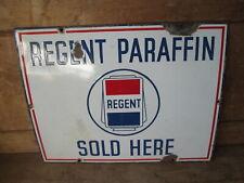 Regent paraffin enamel sign. vintage sign.Shell. BP.