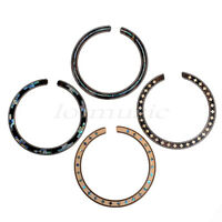 4 Pcs Acoustic Guitar Rosette Abalone Inlay Soundhole Rosette Wood