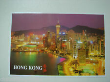 old China HK postcard,the HK conventions & exhibition centre at night,unused