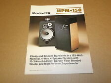 Pioneer HPM-150 Speakers Original Brochure / Catalogue Printed in JAPAN