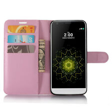 Leather Wallet Folio Case for LG G6