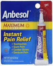 Anbesol Gel Maximum Strength 0.33oz Each