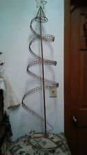 "46"" Metal Spiral Christmas Tree Card Holder With A Star On Top"