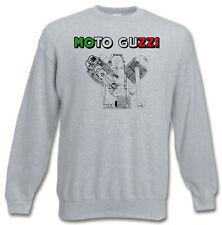 Sweatshirt Moto Guzzi Tricolore - MOTO SPEZIAL S bis 3XL - Siebdruck Waschecht