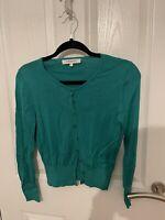 LK Bennett Jade Green Cardigan Size S Silk Blend