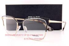 Brand New Prada Eyeglass Frames PR 54UV QE3 Black/Gold for Women Size 53