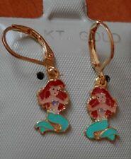 14K Gold Fill Princess Ariel Little Mermaid Earrings Kids Little Girl Child USA