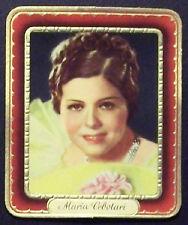 Maria Cebotari 1937 Garbaty Passion Film Favorites Embossed Cigarette Card #21