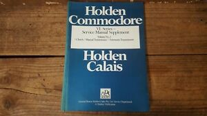 Factory GM Holden VL Series Service Manual Supplement, Vol 3, Commodore, Calais