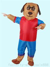 Unisex Handmade Adults Inflatable dog mascot Costume Suit Boy Girl Fancy Dress