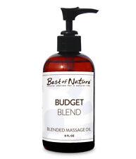 Best Of Nature Budget Blend Massage & Body Oil With Pump Bottle - 8 Ounces