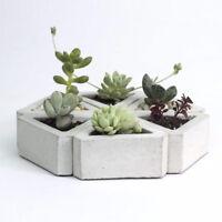 3D Flowerpot Silicone Mold Handmade Triangular Concrete for Succulent Plants DIY