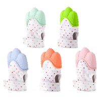 Newborn Baby Silicone Mitt Teething Mitten Teething Glove Wrapper Sound Teether