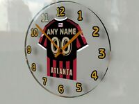 "MLS MAJOR LEAGUE SOCCER JERSEY WALL CLOCKS - 12"" x 12"" x 2"" - FREE CUSTOMIZATION"