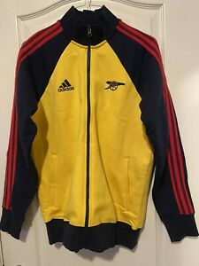 NEW Adidas Arsenal Icons 2020 Track Jacket FQ6925 EQT Yellow Collegiate Navy M