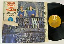 Vince Martin & Fred Neil Tear Down the Walls Vtg Record LP EX Vinyl 1960s Orig