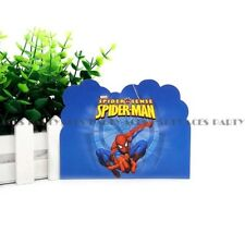 🕷12x Spiderman Party INVITATION. Bunting Lolly Loot Bags Supplies Flag Favour