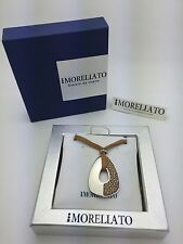 """MORELLATO CIONDOLO Collection Necklace with Brown 48"""" Leather String N4812BR"""