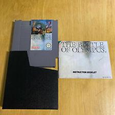 Nintendo NES Game + Manual - The Battle Of Olympus