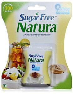 Sugar Free Natura Zero Calorie Sugar Substitute   2* 300 Pellets   Free Shipping