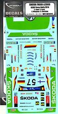 MF Zone Decals 1/24 SKODA FABIA S2000 2014 GEKO Ypres Rally