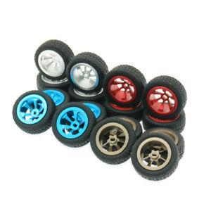4pcs Aluminum Wheels Rim Tires K989-53-1 for Wltoys 1/28 K969 K989 P929 RC Car
