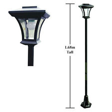1.68M Solar Powered Garden Pathway Lamp Post LED Outdoor Light - Bulb Included!