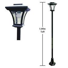 1,68 m solaire alimenté Jardin Pathway Lampadaire LED la lumière extérieure-Ampoule inclus!