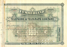 Cumberland Telephone & Telegraph Company 1884 ....  RARITÄT  ........