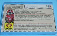 CUSTOM 1985 GI Joe Cobra Crimson Guard Sears JCPenney Uncut Red Back File Card