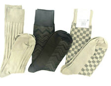 3 Pair of Perry Ellis PORTFOLIO Men's Socks,2 Khaki/ 1 Brown,  6-12.5