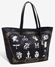 Harry Potter Back To Hogwarts Icons Faux Leather Tote Hand Bag Purse