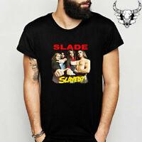 SLADE Logo T-Shirt Funny Birthday Cotton Tee Vintage Gift For Men Women