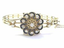 Fine Blue Enamel Diamond Yellow Gold Lucerne Watch Bracelet 1.20Ct