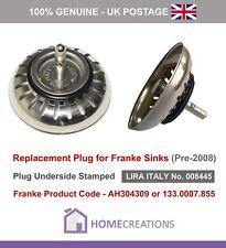 Franke Sink PLUG for Basket Strainer Waste (Old Style)