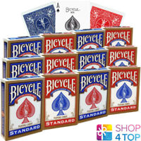 12 DECKS BICYCLE RIDER BACK STANDARD INDEX PLAYING CARDS RED BLUE NEW