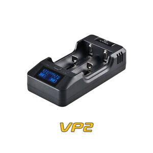 XTAR VP2 Battery Charger LCD + Car Charger For Lithium Li-Ion 18650 26650 16340