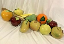 """Rustic Kitchen Vegetables Rope Wall Art Hanging Ceramic Home Decor 26"""" Long"""