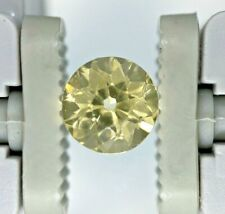 GIA Certified NO HEAT NATURAL Yellow Sapphire Antique Round Cut Ceylon 1.17 CT
