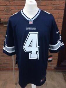 Mens Nike NFL Dallas Cowboys Dak Prescott Game Jersey Navy Blue XL BNWT