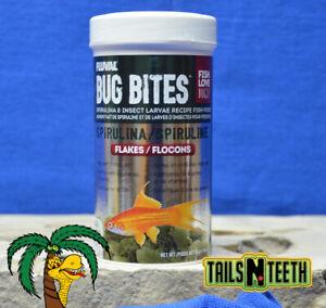 Fluval Bug Bites Spirulina Flake 45g ~ Insect Larvae High Protein Diet